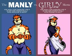 Meme Vs Meme - manly vs girly meme weasyl