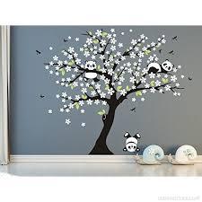 stickers panda chambre bébé arbre généalogique et panda stickers muraux décalcomanie murale pour