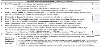 W4 Worksheet Filling Out Your W 4 Line By Line Peoples Income Tax