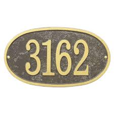 halloween plaques whitehall products fast and easy oval house number plaque bronze