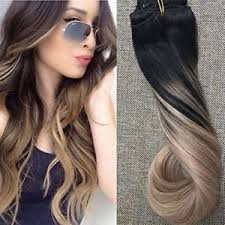 best human hair extensions dip dye hair color 1b 18 balayage best quality clip in human hair