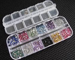 28 girds storage box nail art rhinestone tool jewelry beads
