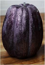 13 inch purple glittered pumpkin
