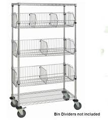 5 Tier Wire Shelving by Heavy Duty Nsf 5 Tier Chrome Wire Basket Shelving Rack With Wheels