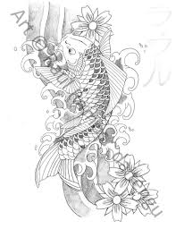 grey koi fish pisces tattoo sketch in 2017 real photo pictures