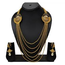 gold rani haar sets buy pourni peacock traditional rani haar necklace set with