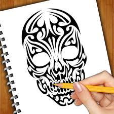learn how to draw skull tattoos by bhaumik harshadray mehta