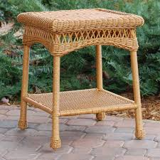 outdoor furniture side table tortuga outdoor portside wicker side table wicker com