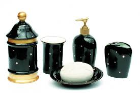 Silver Bathroom Accessories Sets by Bathroom Luxury Soizick Black And Gold Bathroom Accessories Set