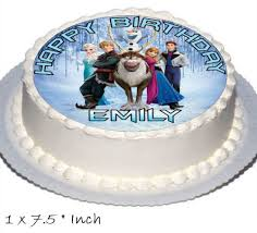frozen birthday cake frozen birthday cake party set toppers with any name includes elsa