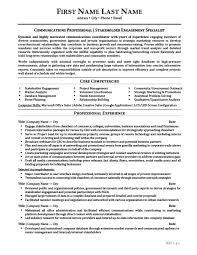 Crisis Management Resume Public Relations Resume Templates Samples U0026 Examples Resume