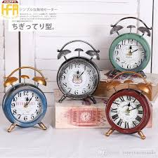 bedroom clocks 2018 western round desk clock vintage alarm clock old iron small