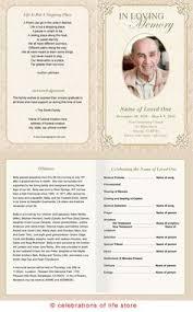a funeral program memorial service program template printable funeral