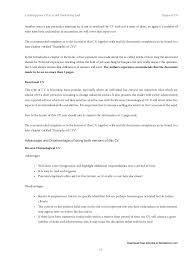 Resume Format For It Jobs by Creating Your Cv As A Self Marketing Tool