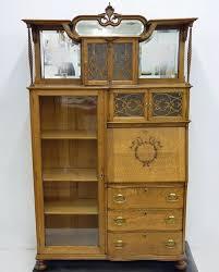 Antique Curio Cabinet With Desk 24 Best Antiques Images On Pinterest Victorian Furniture