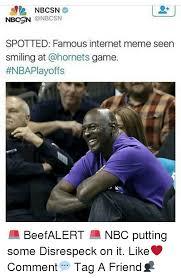 Famous Internet Meme - nbcsn spotted famous internet meme seen smiling at game beefalert