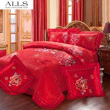 Chinese Silk Duvet Chinese Wedding Bedding Set Luxury Silk Cotton Bed Cover Bed