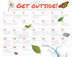 a month of outdoor activities for kids house mix