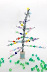 retro tinsel tree craft for