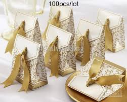wedding cake boxes gold ribbon wedding favor boxes for cake boxes box