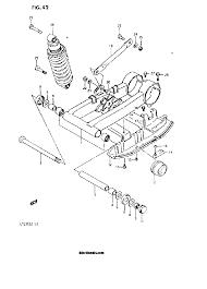 1986 suzuki lt230 lt230s rear swinging arm model f g parts