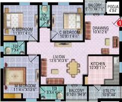 floor plans 1500 sq ft 1500 sq ft 3 bhk floor plan image rv developers etania available