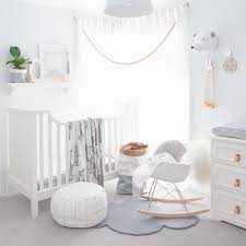 White Nursery Decor Charming White And Grey Nursery Home Designs