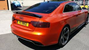 audi orange color fiery orange audi rs5 wrapfolio