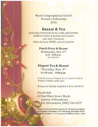 elegant tea u0026 bazaar mystic congregational church