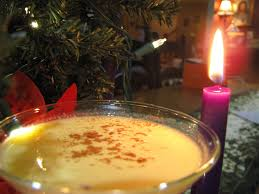 martini eggnog o night divine advent foods and drink
