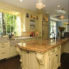 kitchen island with corbels iu12 island with exquisite corbels bydesign kitchens