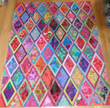 Kaffe Fassett Home Decor Fabric Quilt Patterns For Beginners Kaffe Fassett Bordered Diamonds