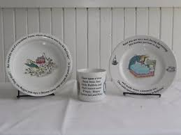 wedgwood rabbit nursery set vintage 3 wedgewood rabbit nursery set beatrix potter