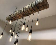 rustic beam light fixture industrial lighting 60 reclaimed barn wood beam with metal brackets