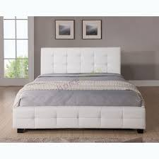 Cheap Leather Bed Frame White Leather Bed Robinsuites Co