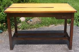 Vintage Wooden Drafting Table Furniture Antique Price Guide