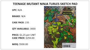 teenage mutant ninja turtle sketch pad nygm trading wholesale