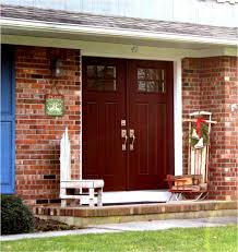 paint color front door red brick house painting best red front