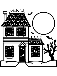 halloween coloring page haunted house primarygames play free