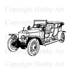 vintage cars clipart vintage car machines u0026 sports rubber stamps products