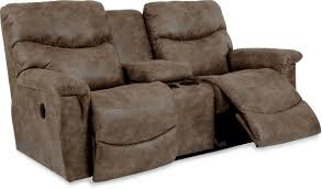 Rocking Reclining Loveseat With Console Casual Power La Z Time Full Reclining Loveseat With Middle