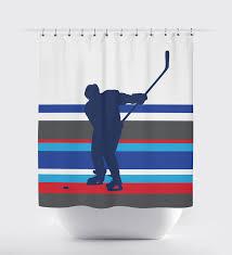 Royal Blue Bathroom by Ice Hockey Multi Striped Shower Curtain Royal Blue Charcoal