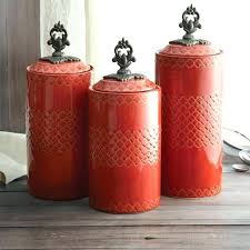 orange kitchen canisters kitchen canisters orange vintage kitchen canisters mod pottery