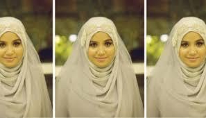 tutorial hijab syar i untuk pernikahan tutorial hijab menggunakan shawl sifon hello hijabers