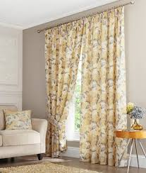 Floral Lined Curtains Yellow Floral Curtains Scalisi Architects