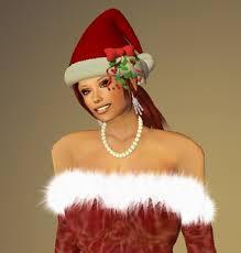 mistletoe hat second marketplace ms santa christmas