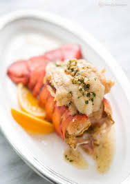 Main Dish With Sauce - broiled lobster tail with brown butter sauce recipe