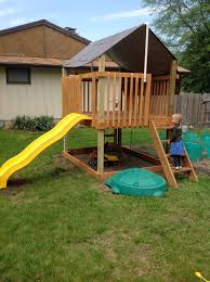 Backyard Play Structure by Play Deck Fort Do It Yourself Home Projects From Ana White Ana