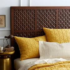 Carved Wood Headboard Headboard Cafe West Elm