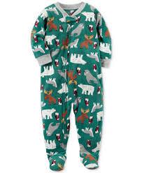 s 1 pc animal print footed pajamas toddler boys 2t 5t
